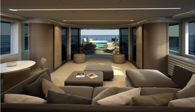 Interior of the Explorer MONDO45 Yacht by Mondo Marine