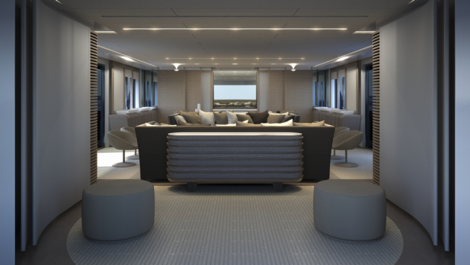 Interior of the Mondo Marine Explorer Yacht MONDO45