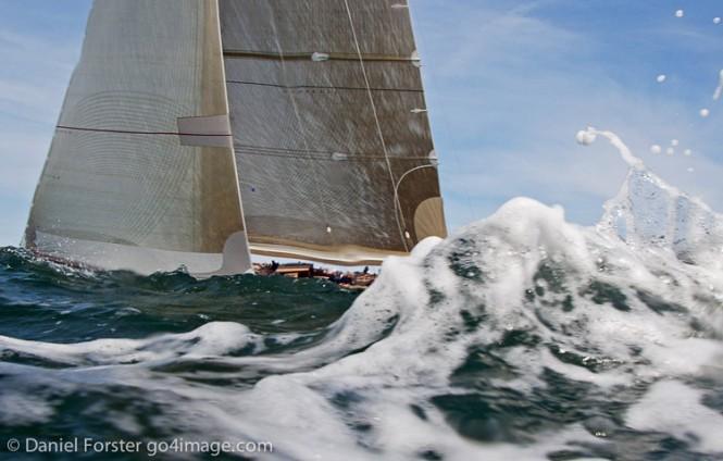 J Class Sailing yacht Velsheda comes second in the 2011 J Class Regatta Newport- Credit J Class Yachts