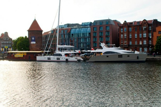 Launch of Sunreef 58 sailing yacht In the Wind and Sunreef 70 Power yacht Damrak II