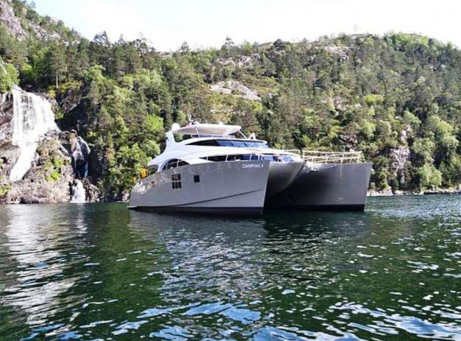 maiden voyage in the norwegian fjords for charter yacht. Black Bedroom Furniture Sets. Home Design Ideas