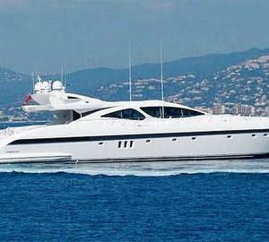 The Mangusta 130 Motor Yacht CELCASCOR Offers Early July France Yacht Charter Discount