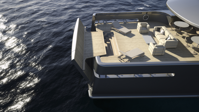 Motor Yacht Mondo 45 Explorer by Mondo Marine - Beach Club