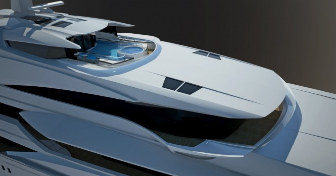 Motor Yacht Project Lumen - a 90m superyacht designed by Adriel Design for oceAnco -sundeck close-up