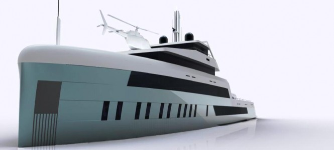 Open water 60 metre explorer luxury motor yacht - by Motion Code Blue Design