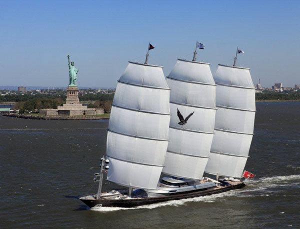 Perini Navi designed Maltese Falcon, at 289 feet