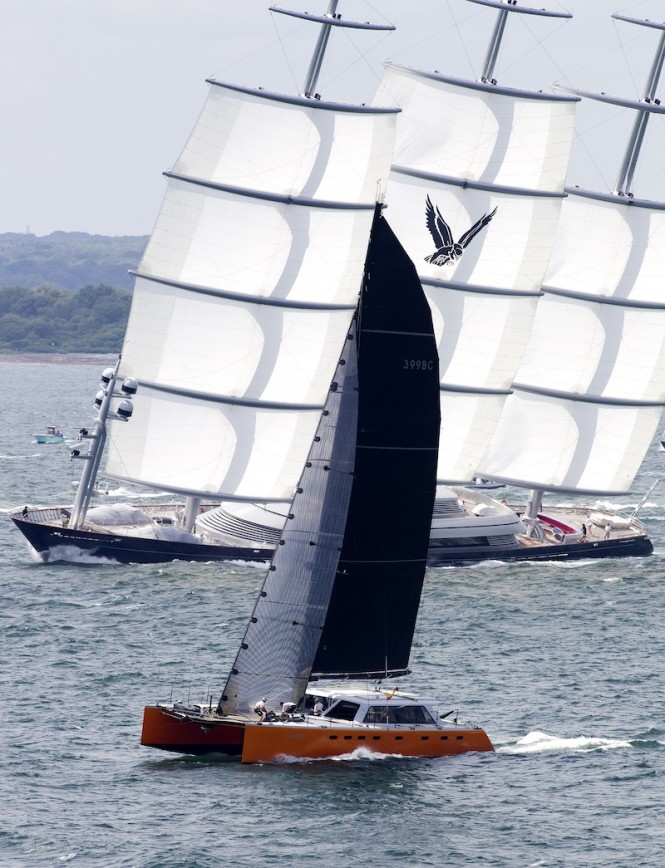 Phaedo and Maltese Falcon at the Transatlantic yacht race 2011 -  Richard Langdon