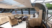 Sailing yacht AKALAM Salon with plenty of natural light - Credit: Lloyd Images