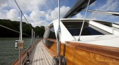 Pendennis Superyacht AKALAM Side Deck - Credit: Lloyd Images