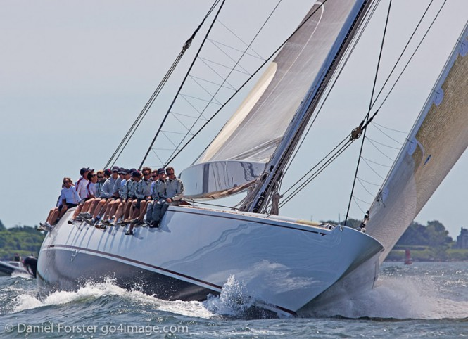 Sailing yacht Ranger wins J Class Regatta Newport - Ranger on Day 1. Photo©2011 Daniel Forster go4image.com