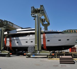 Sanlorenzo launch yacht 'Triple Fun' and motor yacht 'Mia Rocca IX'