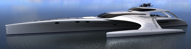 Superyacht Adastra a 42.5m Power Trimaran - Designed by John Shuttleworth Yacht Design