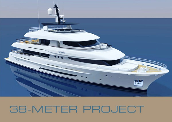 Superyacht designer René van der Velden unveils the 38m motor yacht project and platform for new 37-40m motor yacht range