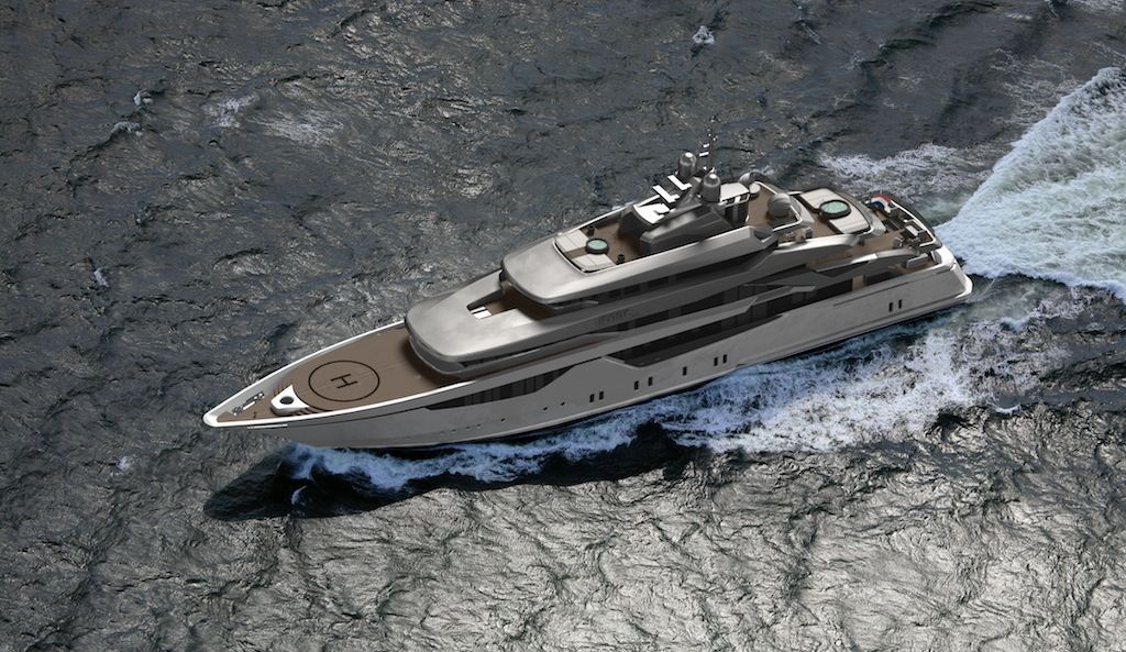 The 73 metre hot lab designed superyacht icon 73 milano for Yacht design milano