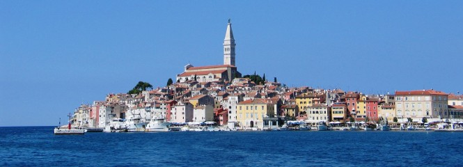 The Old Town of Rovinj in Croatia