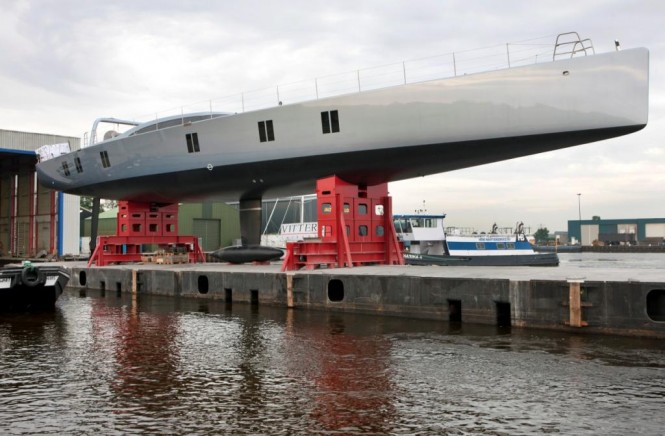 Superyacht Sarissa is the largest carbon sloop ever built in the Netherlands ...