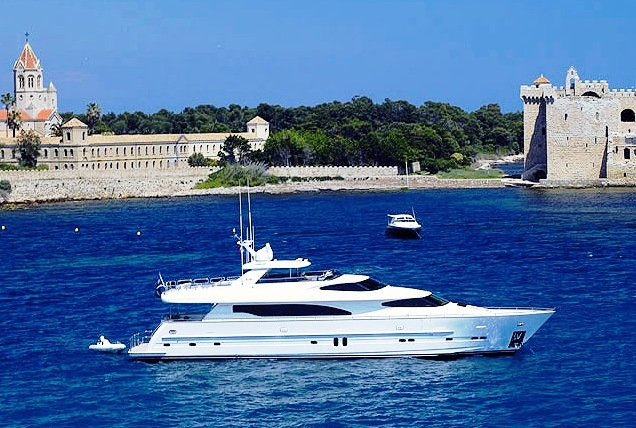 Yacht Annabel II in the Mediterranean