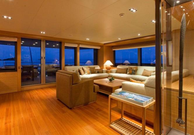 Yacht Exuma Interior Seating Luxury Yacht Charter