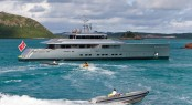 Yacht Exuma and Tender in the South Pacific