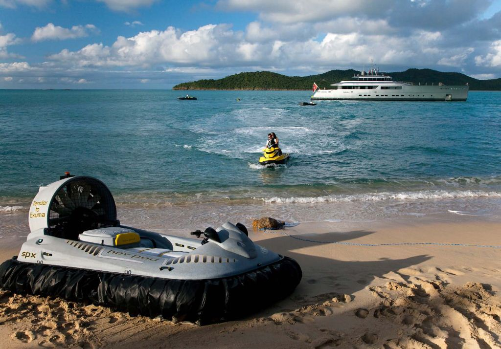 Yacht Exuma Water Toys And Hover Craft Yacht Charter