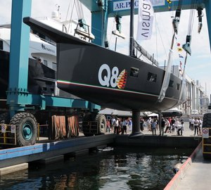 Vismara Marine launch V80 Maxi Sailing Yacht 'Luce Guida' in Italy