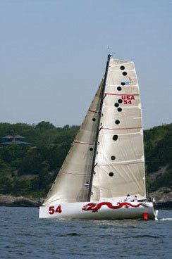 dragonnycSailing double-handed in the Class 40 division will be Michael Hennessey (Mystic, Conn.) on Dragon