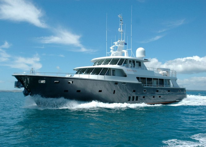 The Motor yacht BLACK PEARL
