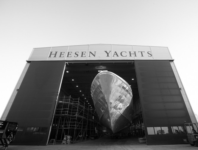 44m HY15944 superyacht Zentric under construction at Heesen Yachts
