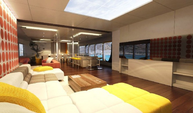 50m Motor yacht JoyMe Main salon by Philip Zepter Yachts