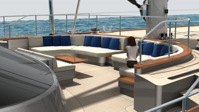 60m Perini Navi Sailing Yacht - Ketch C.2193 rendering