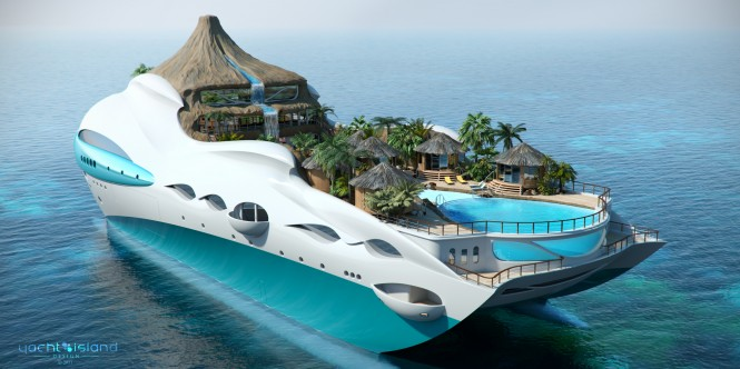 90m 'Tropical Island Paradise' themed superyacht by Yacht Island Design