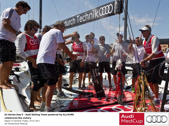 Audi MedCup Region of Sardinia Trophy – Audi Sailing Team powered by ALL4ONE win, 24 07 2011 © Ian RomanAudi MedCup