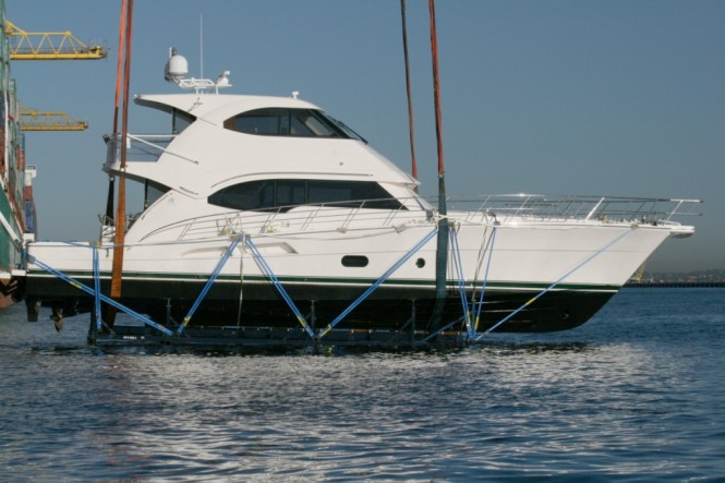 This latest 70 yacht to leave Riviera's state-of-the-art facility in Coomera ...