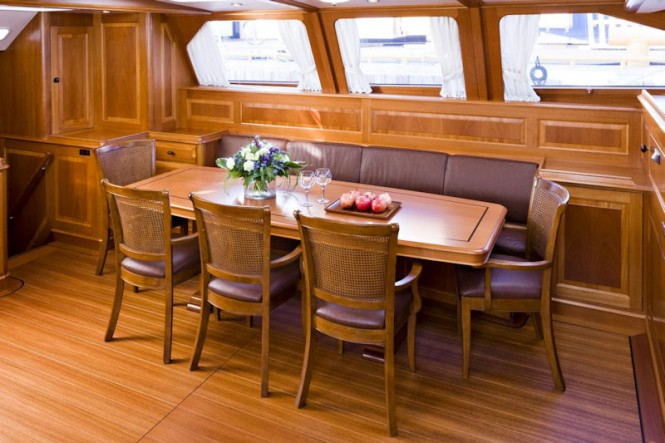 BALTIC 112 Sailing yacht Canova Dining Area - Credit Baltic Yachts