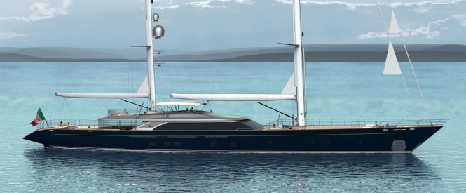 C2193 60m Sailing ketch by Perini Navi due to be delivered in 2013