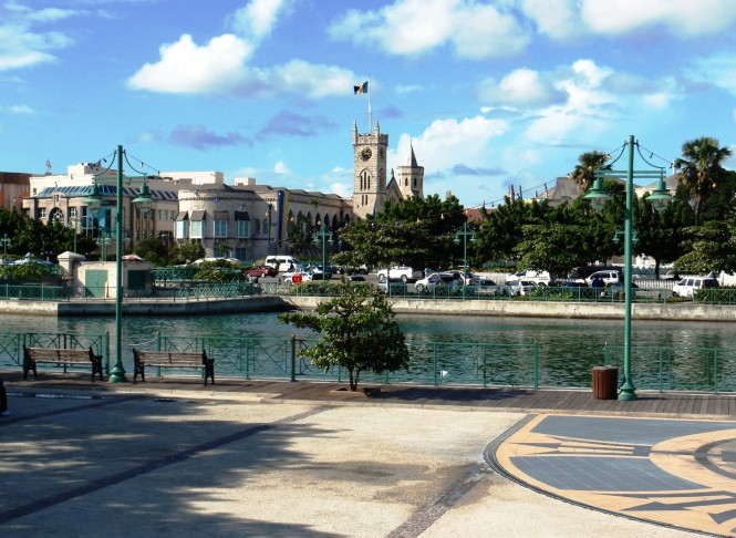 Current view of the inner basin looking towards the Houses of Parliament, Bridgetown, Barbados.  Credit to Nigel Durrant