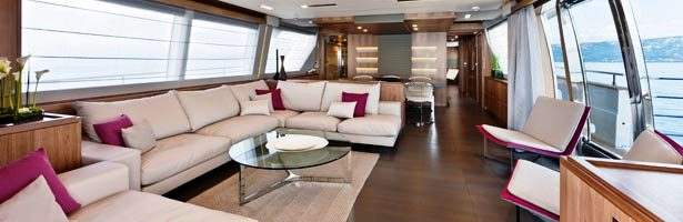 Custom Line 100 series motoryacht Salon  the CL100 by Customline