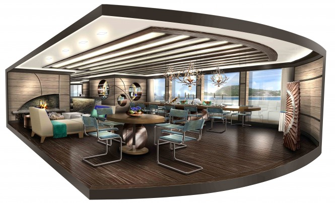 Explore 70 Dining – a multifunction superyacht concept by NEWCRUISE