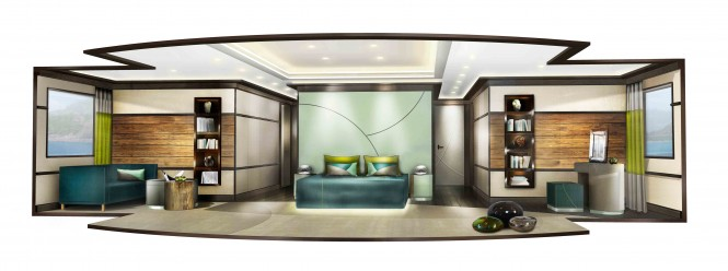 Explore 70 motor yacht Owners Cabin – a World Explorer concept by Newcruise