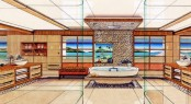 Francois Zuretti designed yacht Lyana interior