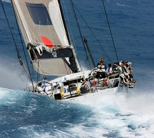 Transatlantic Race 2011: Superyacht Maltese Falcon and sailing yacht ICAP Leopard finish