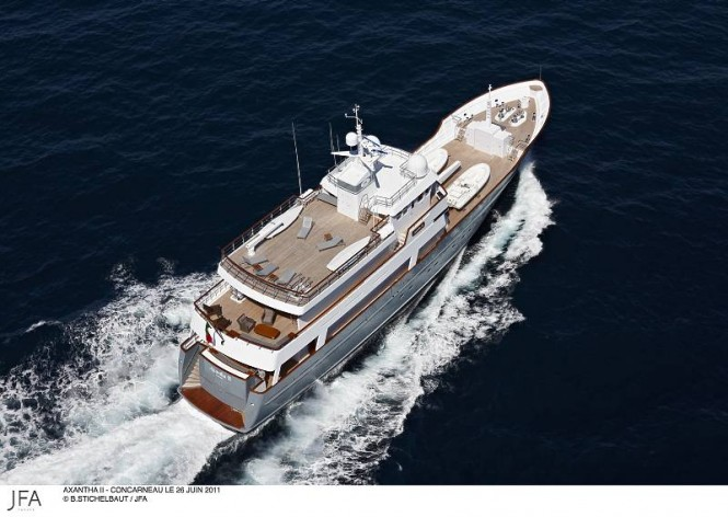 JFA 43m motor yacht Axantha II  An expedition superyacht designed by Vripack- Photo Credit B.Stichelbaut  - JFA