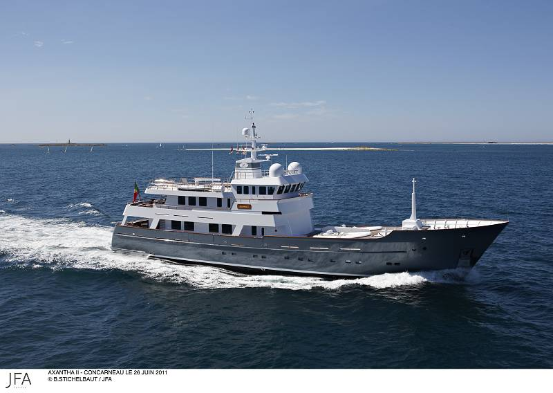 Jfa Launches 43m Motor Yacht Axantha Ii An Expedition