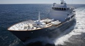 JFA shipyard launches 43m motor yacht Axantha II � An expedition superyacht designed by Vripack- Photo Credit B.Stichelbaut / JFA