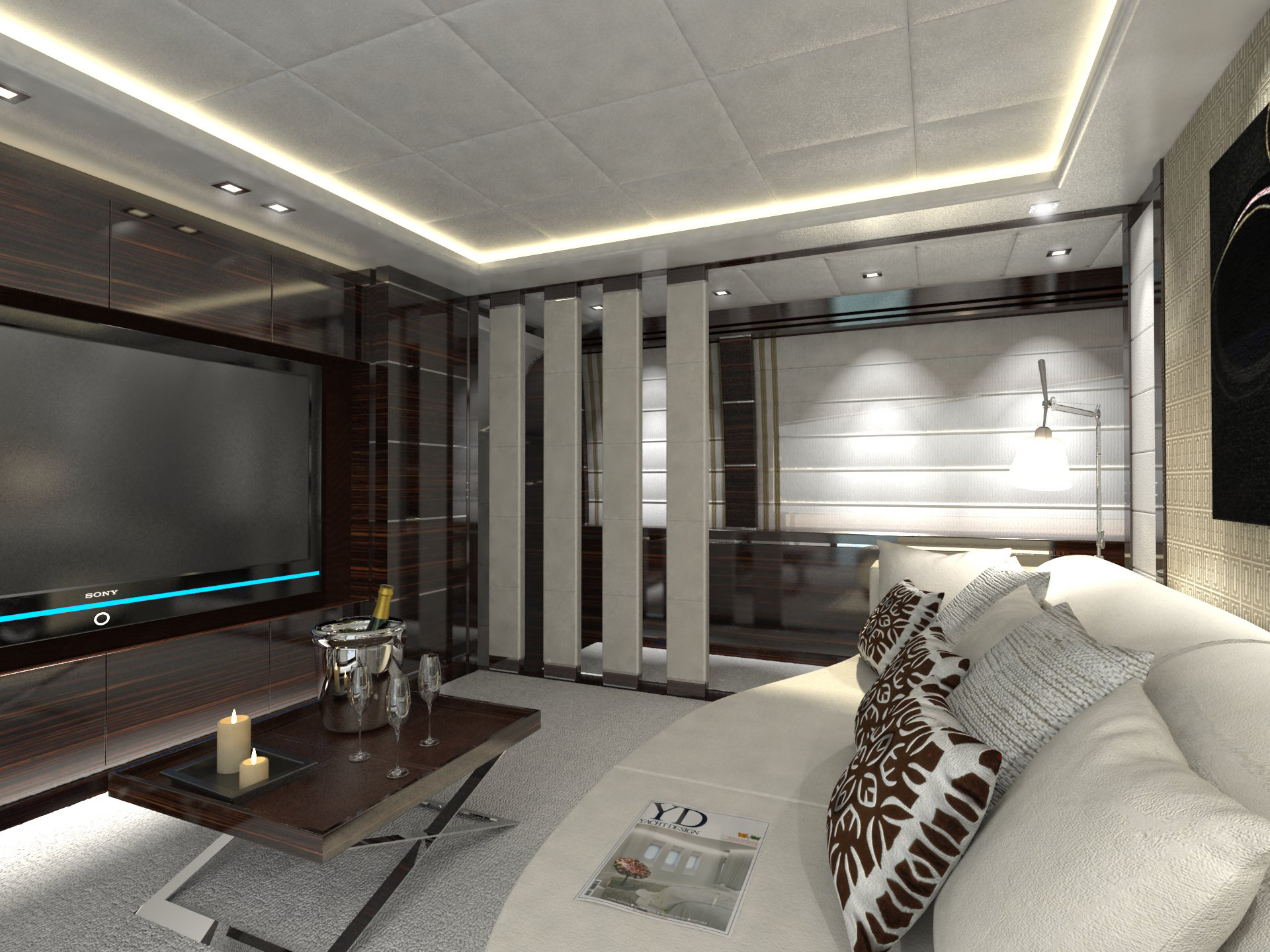 Leopard 46 tutto le marrane yacht media room yacht for What is a media room