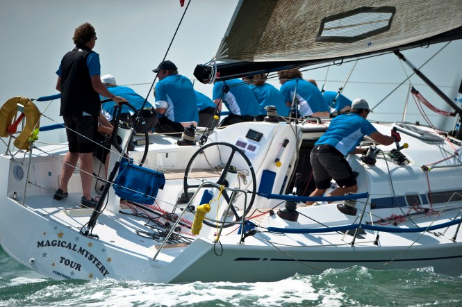 Swan Sailing yacht Magical Mystery Tour, winners of Class A racing upwind © Kurt Arrigo & Nautor's Swan