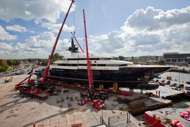 Motor yacht SEVEN SEAS Y706 launched from the Oceanco Shipyard