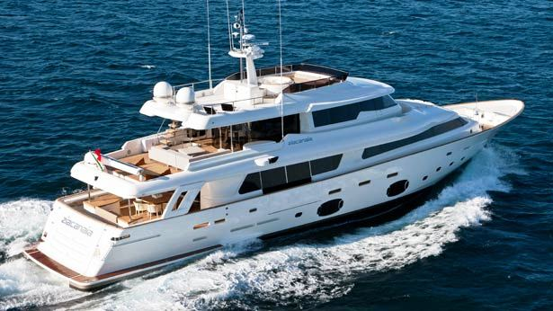 Motor yacht Ziacanaia launched by Ferretti Group Custom Line Navetta 33 Crescendo series