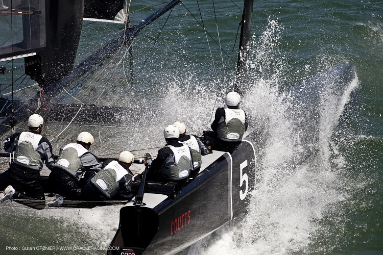 ORACLE Racing - Boat preparation - AC45 OR 5 1st sailing trails