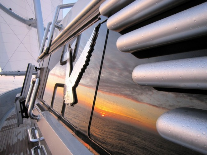 Onboard the 289' Superyacht Maltese Falcon (photo credit Jeremy Smith)